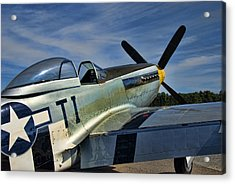 Angels Playmate P-51 Acrylic Print by Steven Richardson