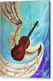 Acrylic Print featuring the painting Angel's Song by Nancy Cupp