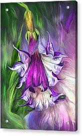 Acrylic Print featuring the mixed media Angel's Trumpet by Carol Cavalaris