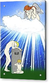 Acrylic Print featuring the digital art Angels Watching Over Us by John Haldane