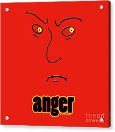 Anger Acrylic Print by Methune Hively