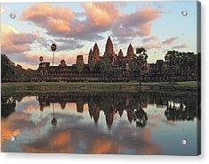 Angkor Sunset Acrylic Print