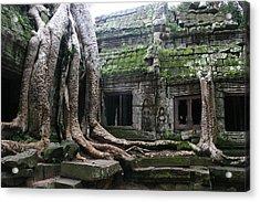 Angkor Wat Acrylic Print by Linda Russell