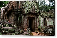 Acrylic Print featuring the photograph Angkor Wat by Louise Fahy