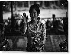 Angkor Wat Temple Dancer 1 Acrylic Print by David Longstreath