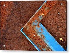 Angle Iron...raw Steel Acrylic Print