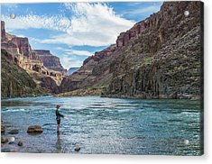 Angling On The Colorado Acrylic Print by Alan Toepfer