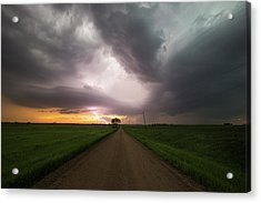 Angry Alien Ship Acrylic Print by Aaron J Groen