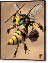 Angry Bee Acrylic Print by James Ng
