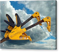 Acrylic Print featuring the digital art Angry Birds Clamps by Lyric Lucas