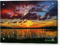 Angry Cloud Sunset Acrylic Print