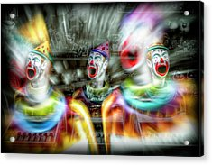 Acrylic Print featuring the photograph Angry Clowns by Wayne Sherriff