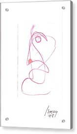 Angry Face - Gesture Drawing Acrylic Print