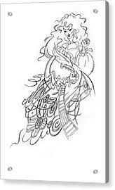 Angry Fairy Acrylic Print by Agnese Kurzemniece