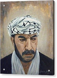Angry Palestinian Acrylic Print by Gizelle Perez