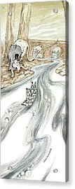 Angry Rat Pursuing Tin Soldier's Paper Boat - Tall Panoramic - Illustration Fragment Acrylic Print