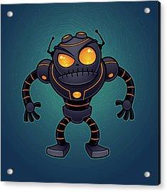 Angry Robot Acrylic Print by John Schwegel