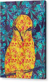 Angry Yellow Bird Acrylic Print