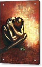 Angst Of Existence Acrylic Print by Padmakar Kappagantula