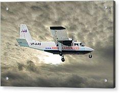 Anguilla Air Services Britten-norman Bn-2a-26 Islander 115 Acrylic Print