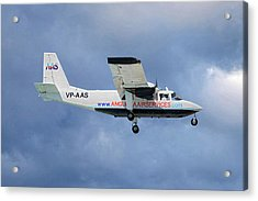 Anguilla Air Services Britten-norman Bn-2a-26 Islander 117 Acrylic Print