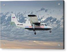 Anguilla Air Services Britten-norman Bn-2a-26 Islander 113 Acrylic Print