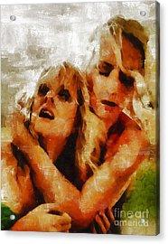 Anguish By Mary Bassett Acrylic Print by Mary Bassett