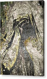 Anguish In Bronze And Copper Acrylic Print by Tony Rubino