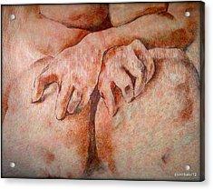 Anguish Acrylic Print by Paulo Zerbato