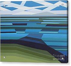 Angular Lake Acrylic Print