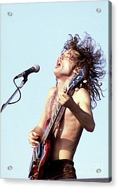 Acrylic Print featuring the photograph Angus Young Ac/dc 1980 by Chris Walter