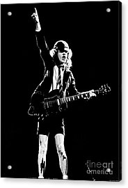 Acrylic Print featuring the photograph Angus Young Of Ac/dc 1983 by Chris Walter