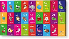 Animal Alphabet Acrylic Print