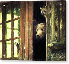 Animal House Acrylic Print by Tim Wemple