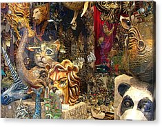 Animal Masks From Venice Acrylic Print by Mindy Newman