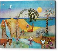 Animal Paradise Acrylic Print by Sally Appleby