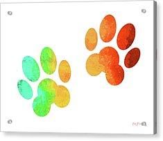 Animal Paws Art Acrylic Print by Ken Figurski