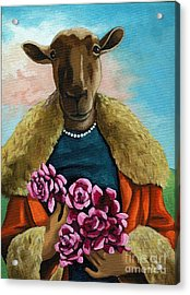 animal portrait - Flora Shepard Acrylic Print