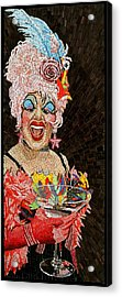 Anita Cocktail Acrylic Print by Michael Kruzich