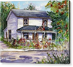 Acrylic Print featuring the painting Anita's House by Margit Sampogna