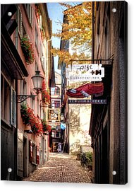 Acrylic Print featuring the photograph Ankengasse Street Zurich by Jim Hill