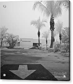 Anna Maria Island Branch Library In Fog Infrared 50 Acrylic Print by Rolf Bertram