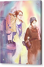 Anna Nation And Her Girls, 1932      Acrylic Print