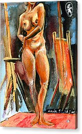 Anna Nude Acrylic Print by Ion vincent DAnu