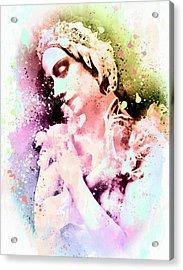 Anna Pavlova Whimsical Ballerina Acrylic Print