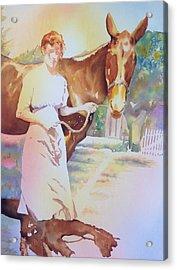 Anna Violet Stubblefield And Lightning Circa1913 Acrylic Print