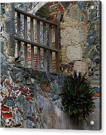Acrylic Print featuring the photograph Annaberg Ruin Brickwork At U.s. Virgin Islands National Park by Jetson Nguyen