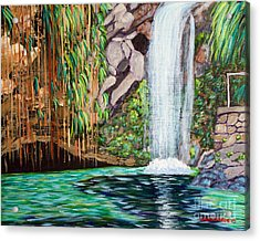 Annandale Waterfall Acrylic Print