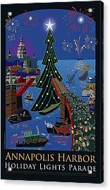 Annapolis Holiday Lights Parade Acrylic Print by Joe Barsin