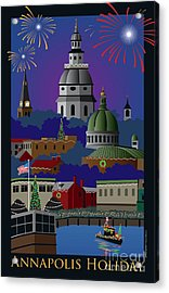 Annapolis Holiday With Title Acrylic Print